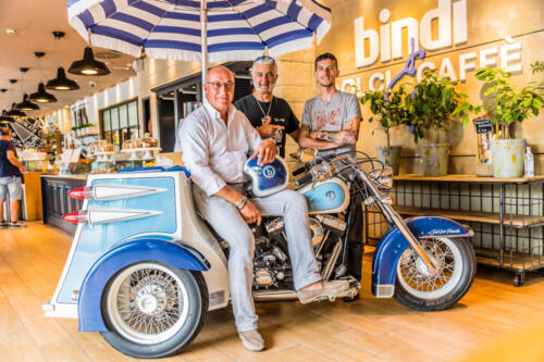 Aldo Lanciano, Angelo Lanciano e Attilio Bindi con Trike Bindi