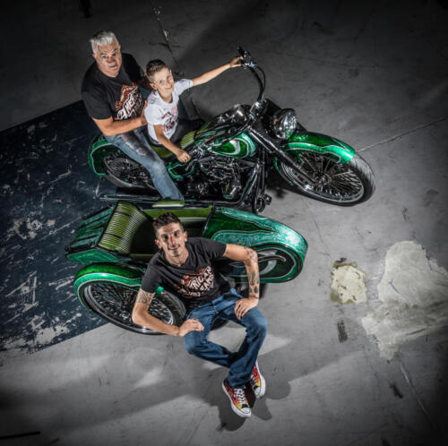Aldo Lanciano, Angelo Lanciano e Gabriel Lanciano - Tre generazioni sul sidecar Lucky Green