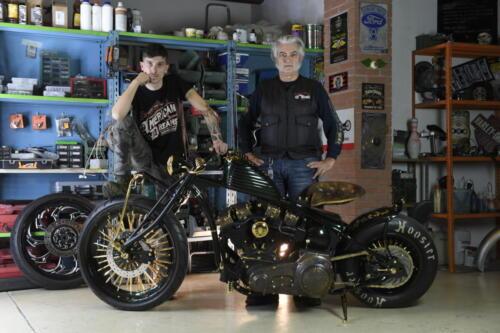 Aldo Lanciano e Angelo Lanciano con Shovelhead D-24k