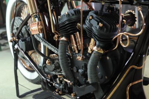 Dettaglio Motore Indian Scout 1927 Iceman Boardtracker