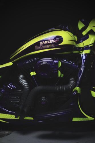 Dettaglio motore Bagger Purple Haze