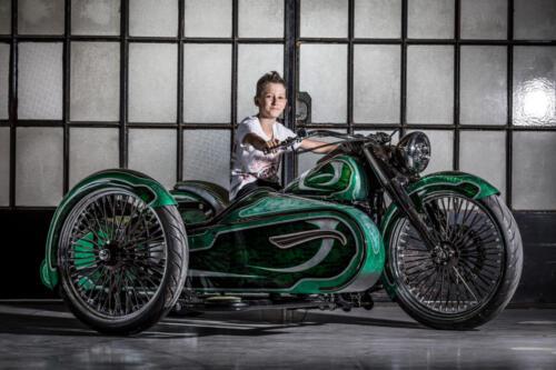Gabriel Lanciano sul Sidecar Lucky Green