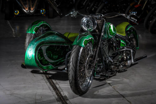 Sidecar Lucky Green in officina